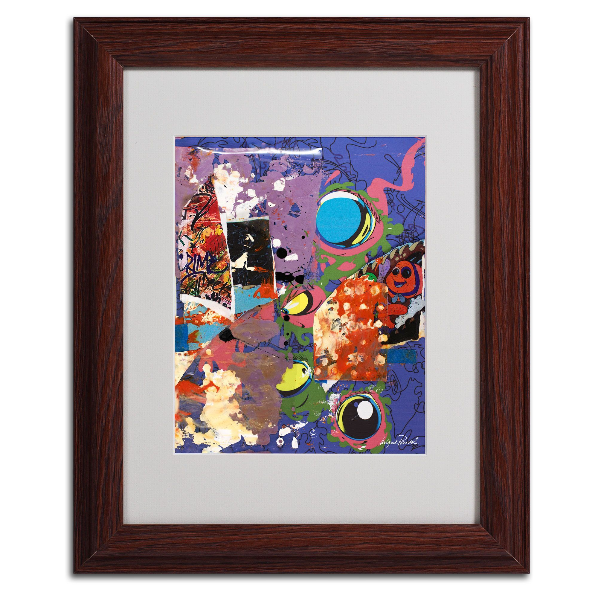 Miguel Paredes 'Urban Collage II' Framed Matted Art