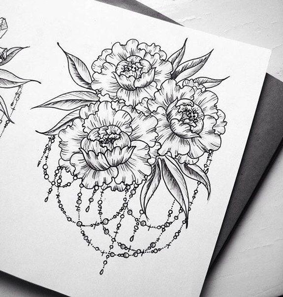 Раскраска.COM   Татуировки с цветами, Раскраски и ...