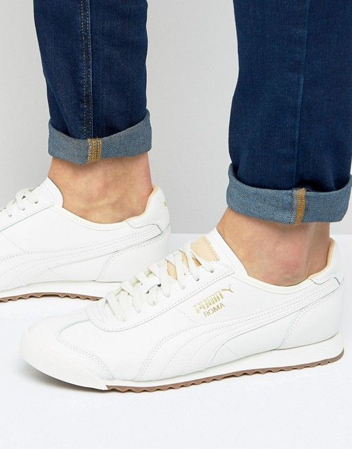 Puma Roma OG Natural Sneakers In White 36318401 | Puma Roma