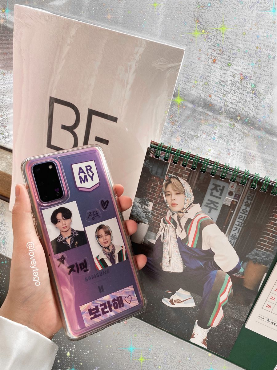 BTS aesthetic diy phone case S20+ BTS version jiko