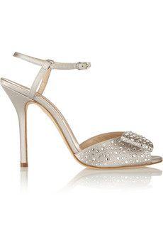 8e6a40207404 Oscar de la Renta Lela crystal-embellished satin sandals