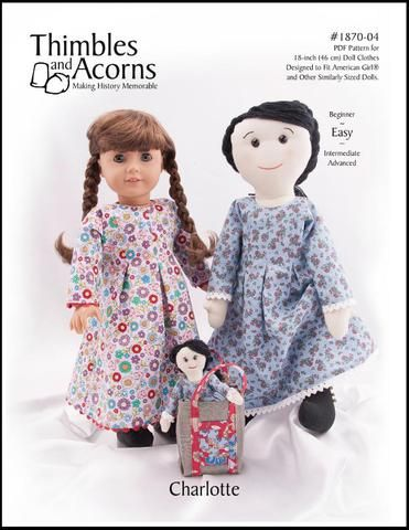 Charlotte 18 Cloth Doll Pattern | Pixie Faire #instructionstodollpatterns