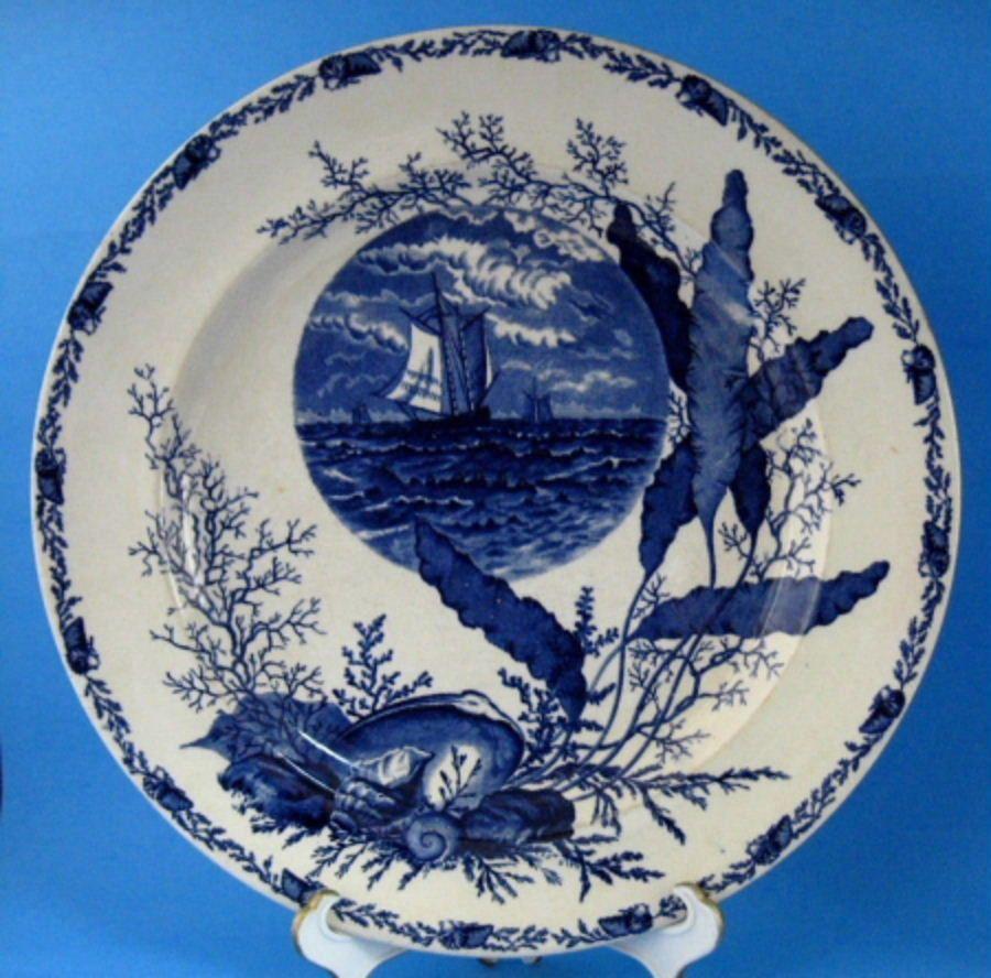 Plate flow blue aesthetic movement ocean scenes