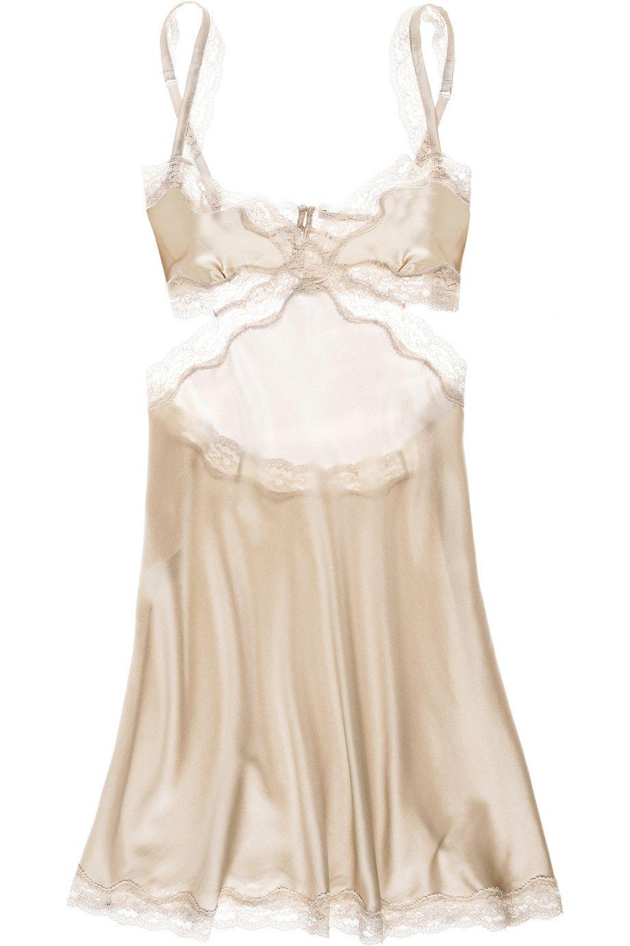 5f4c9b9e9638ac Stella McCartney | Clara Whispering stretch silk-satin chemise ...
