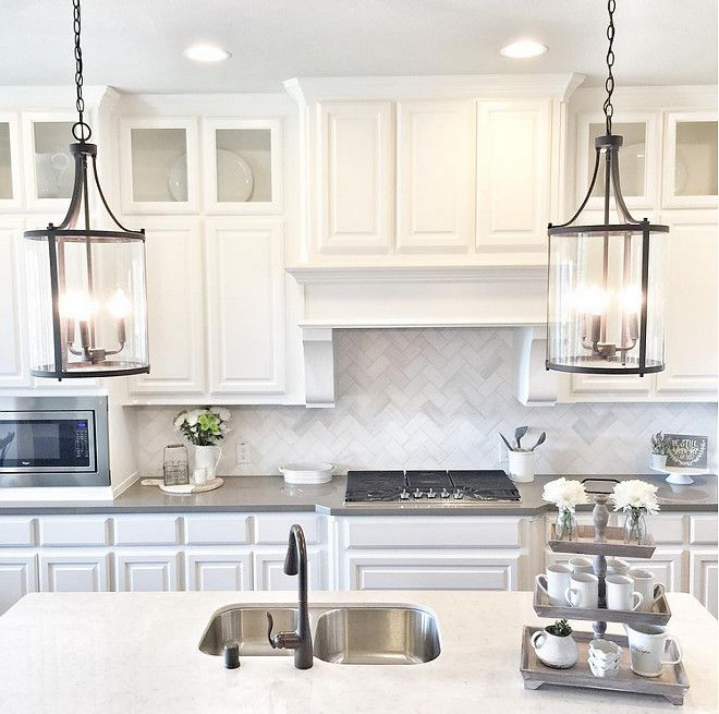 White Kitchen With A Mix Of Grey And White Counters Loving The