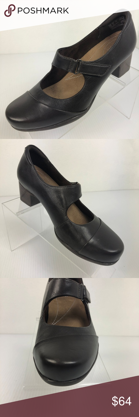 8b97990a83 Clarks Artisan Mary Jane Pumps Womens 8 M Clarks Artisan Black Leather Mary  Jane Pumps Rosalyn Wren Shoes Heels Brand New, Store Displays!