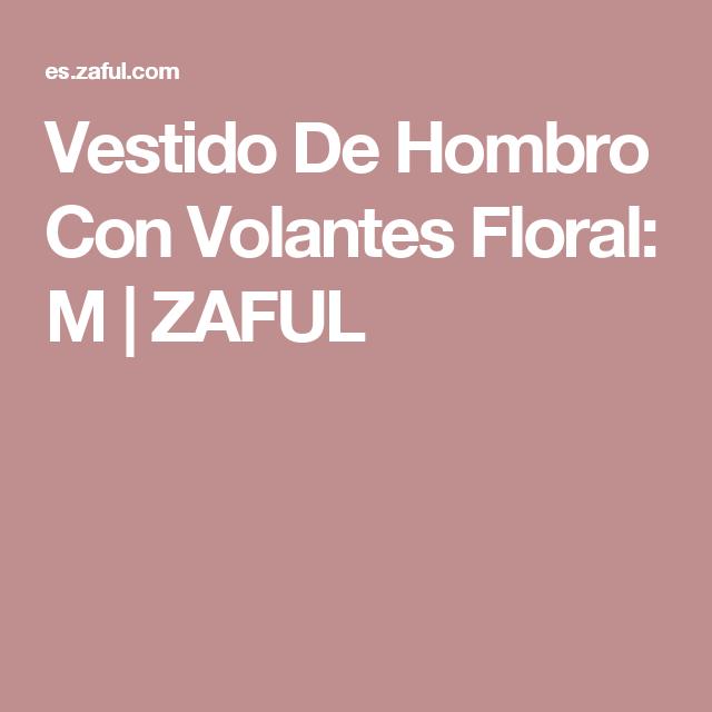Vestido De Hombro Con Volantes Floral: M | ZAFUL