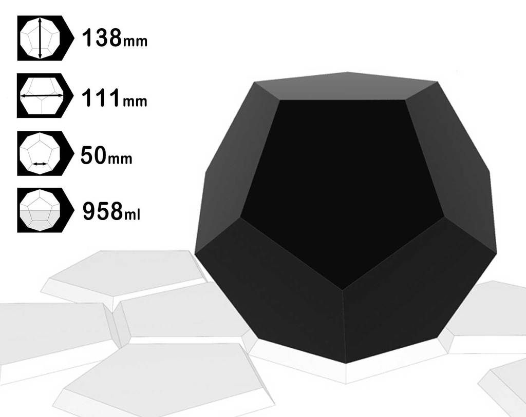 Dodecahedron 138mm X 111mm