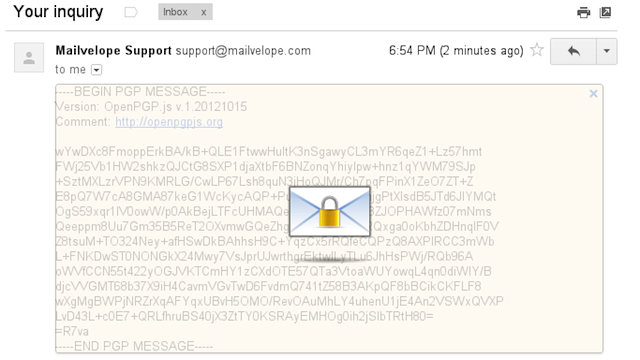 Mailvelope Offers Free, Easy-to-Use PGP Encryption for Gmail