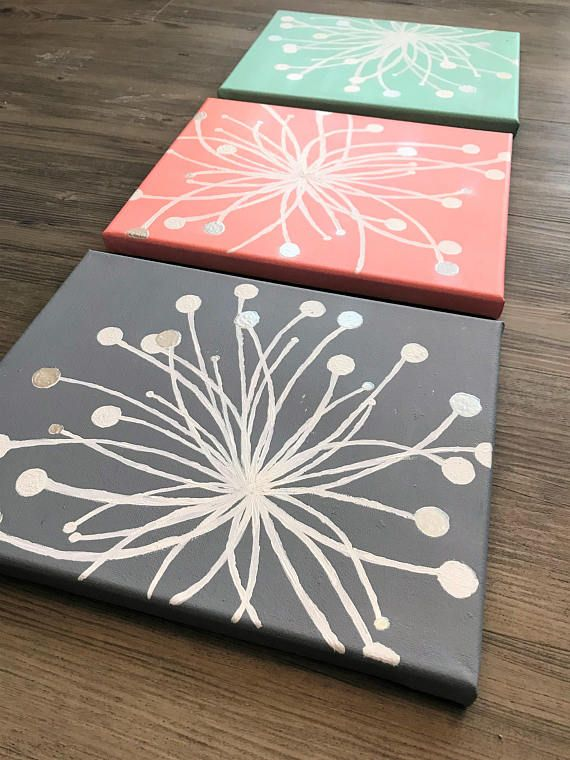 3 Home Decor Trends For Spring Brittany Stager: 3-piece Dandelion Canvas Painting