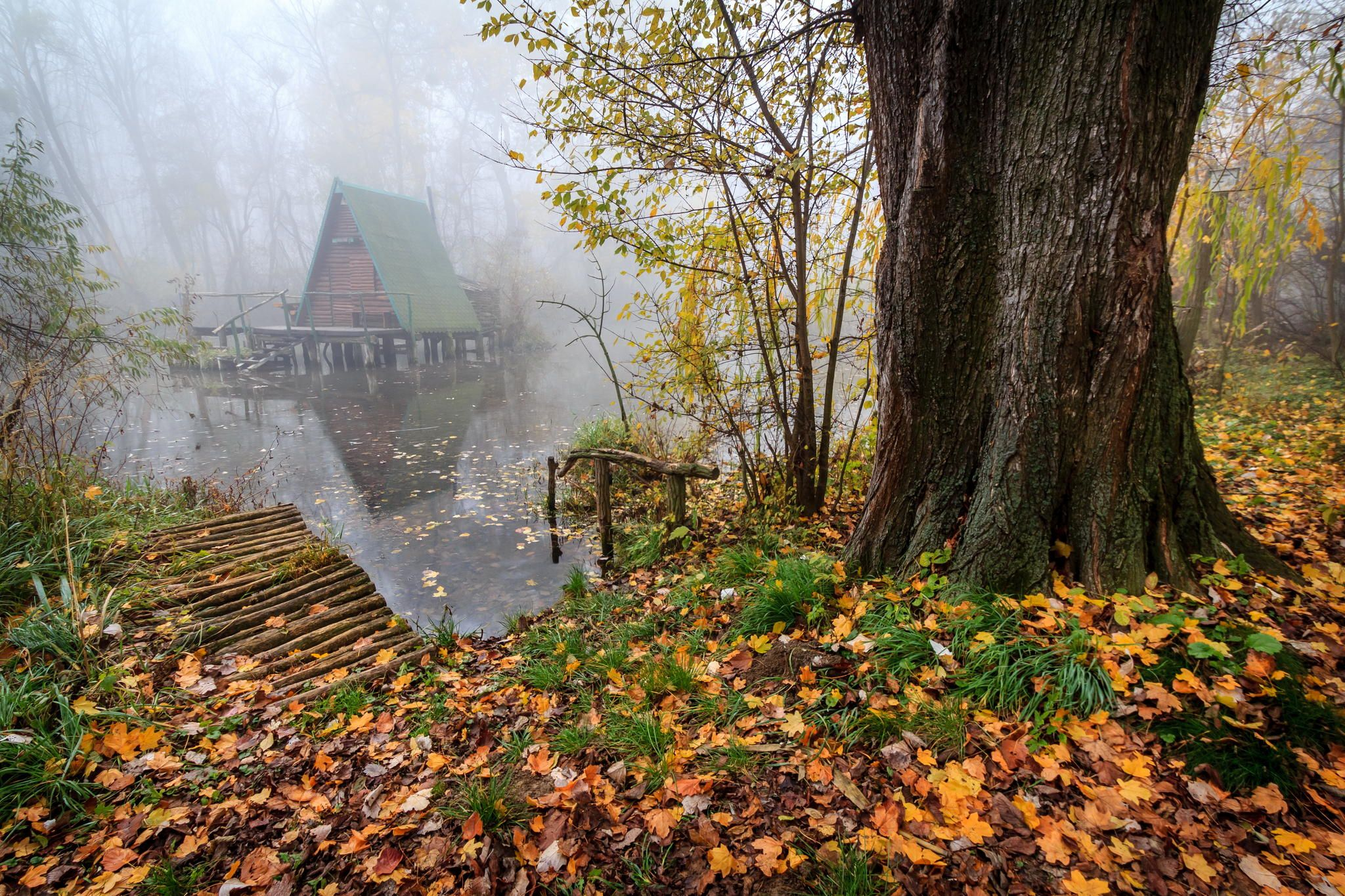 Cottage on the water in autumn by Zoltan Duray on 500px