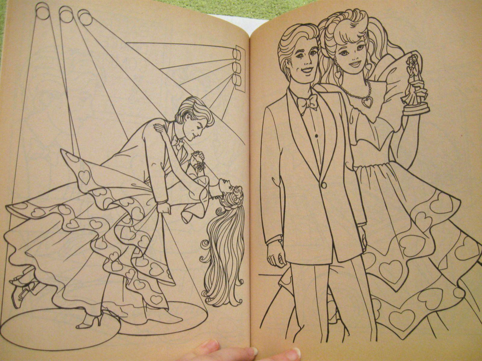 Holiday barbie coloring book vintage 1996 uncolored hallmark christmas beach ken • 15 99 picclick