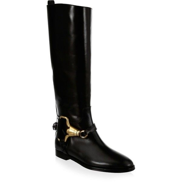 for sale cheap price from china clearance prices Burberry Round-Toe Leather Knee-High Boots cheap sale visit outlet largest supplier sale 2014 unisex i8P1uUJBCK