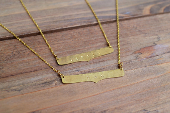 Custom Plate Necklace Uncovet