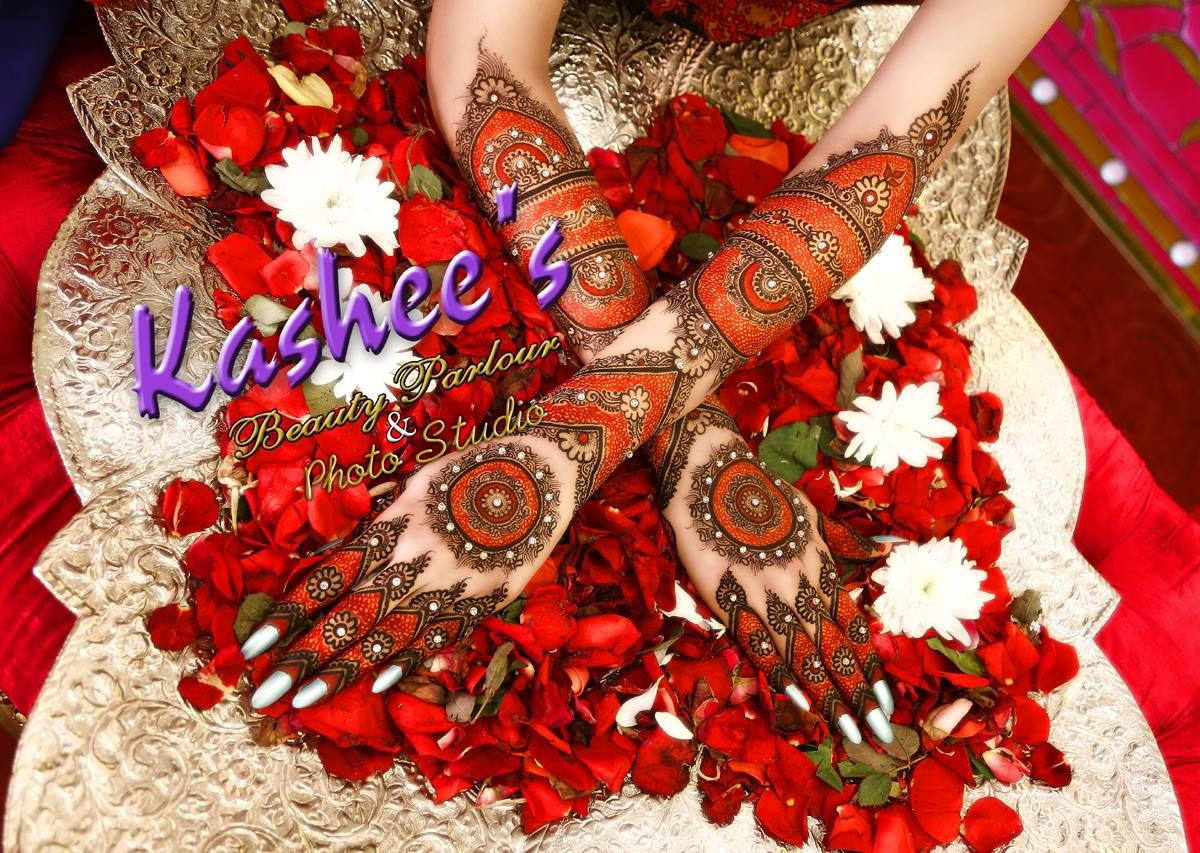 Red And Black Mehndi Design For Brides By Kashee S Beauty Parlour