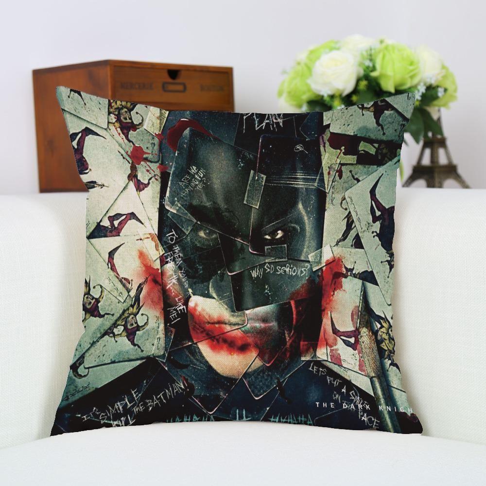 Chiledrenus favourite awesome linen batman superman pillow case seat