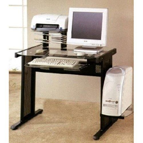 Computer Workstation With Cpu Tray And Pull Out Keyboard Tray By Coaster Home Furnishi Computer Desks For Home Best Home Office Desk Contemporary Computer Desk