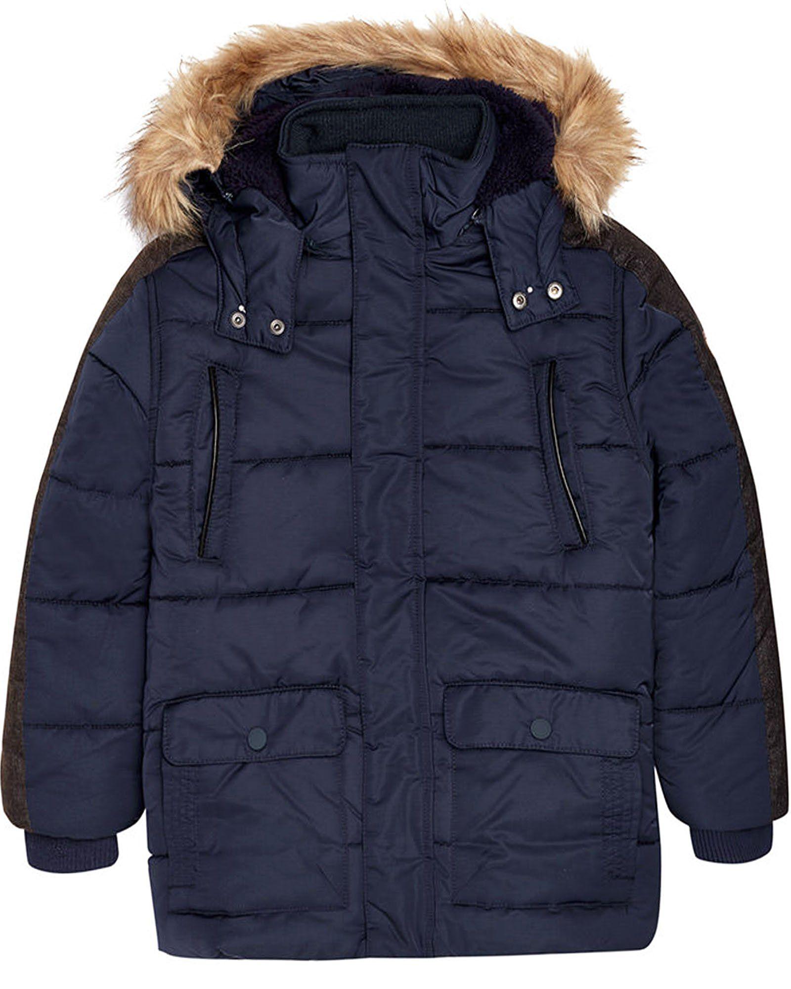 c5981b4188a5 Mayoral Junior Boy s Navy Parka Coat