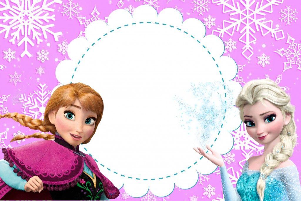 Coleção De Convites Para Imprimir No Tema Frozen