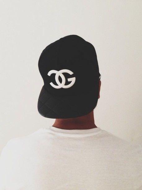 dd607b8c38c black snapback hat chanel fake chanel fullcap hot white cap mens accessories
