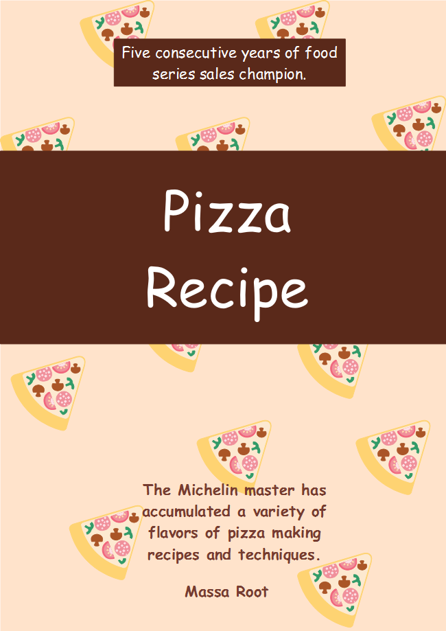 increase your readers appetite by fully customizing this pizza