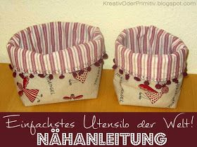Photo of Utensilo angular round simply quick sew yourself DIY fabric basket basket …