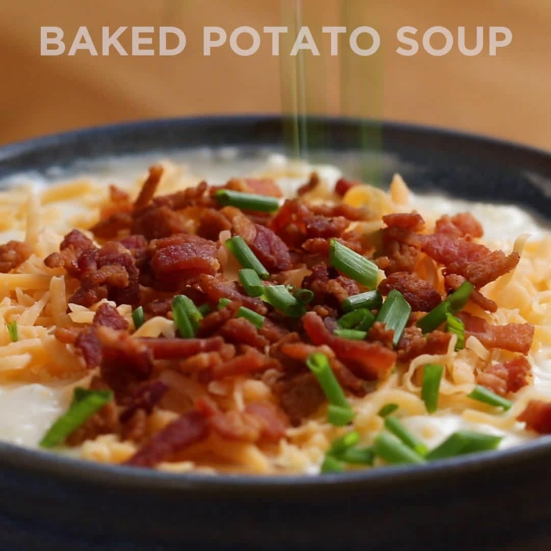 Loaded Baked Potato Soup #potatosoup