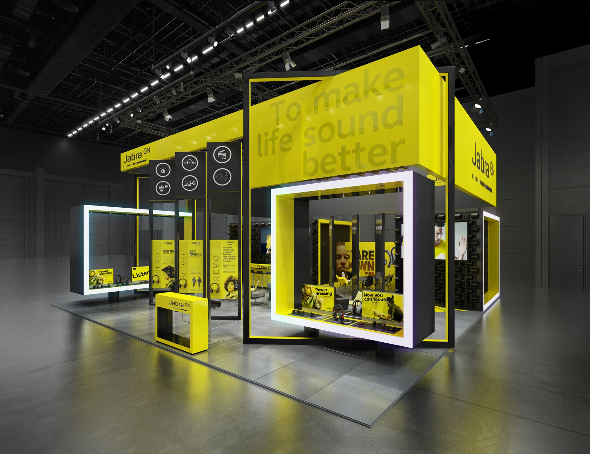 Exhibition Stand Design Tool : Jabra ces concept on behance exhibition booth design
