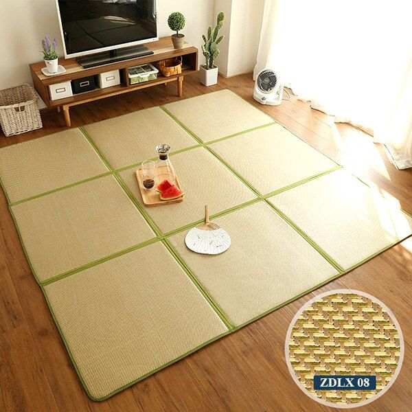 Infant Shining Folding Rattan Carpet 130X195CM Tatami Rug