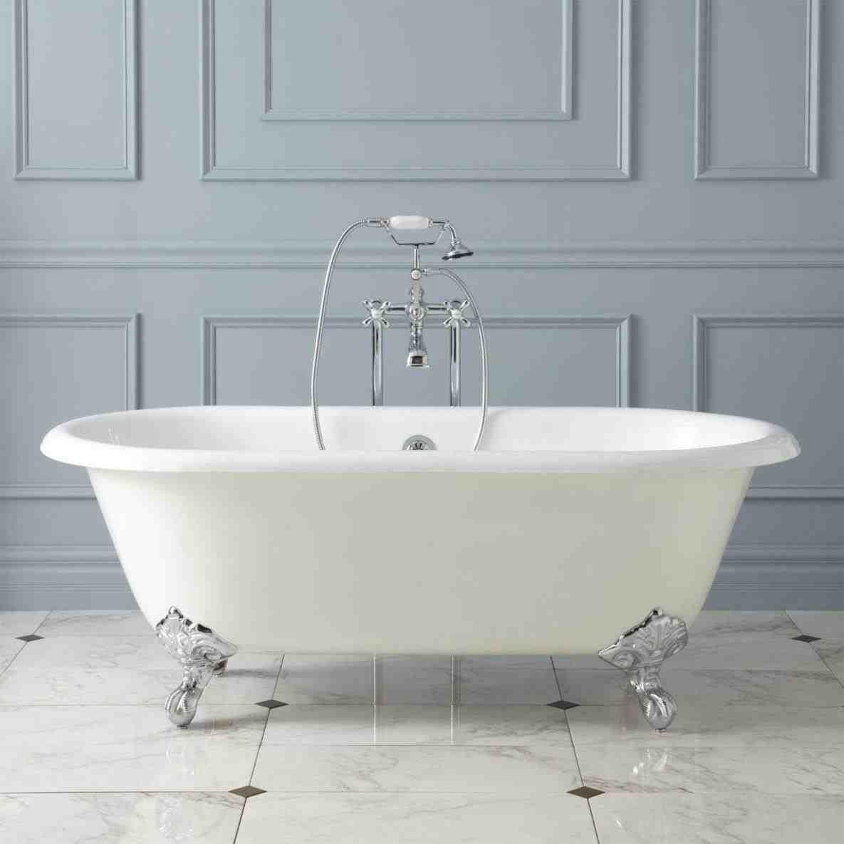 This claw bathtub drawing - lawson white clawfoot bath with chrome ...