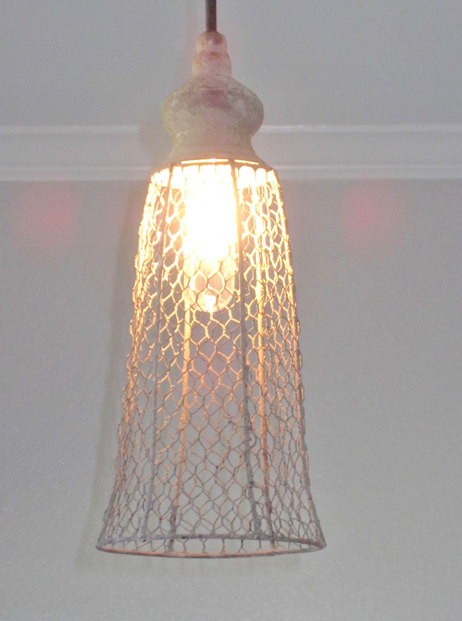 Rustic Wire Lantern Pendant Light | Pinterest | Lantern pendant ...