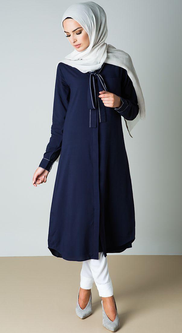 fe69bcd51c4c Kurtis & Long Tops   IBR Muslim Fashion in 2019   Hijab fashion ...