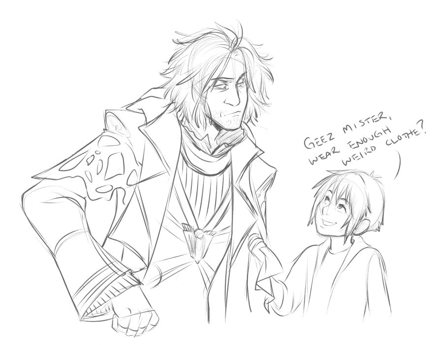 Doodle from the stream. AU in which Ardyn wants revenge