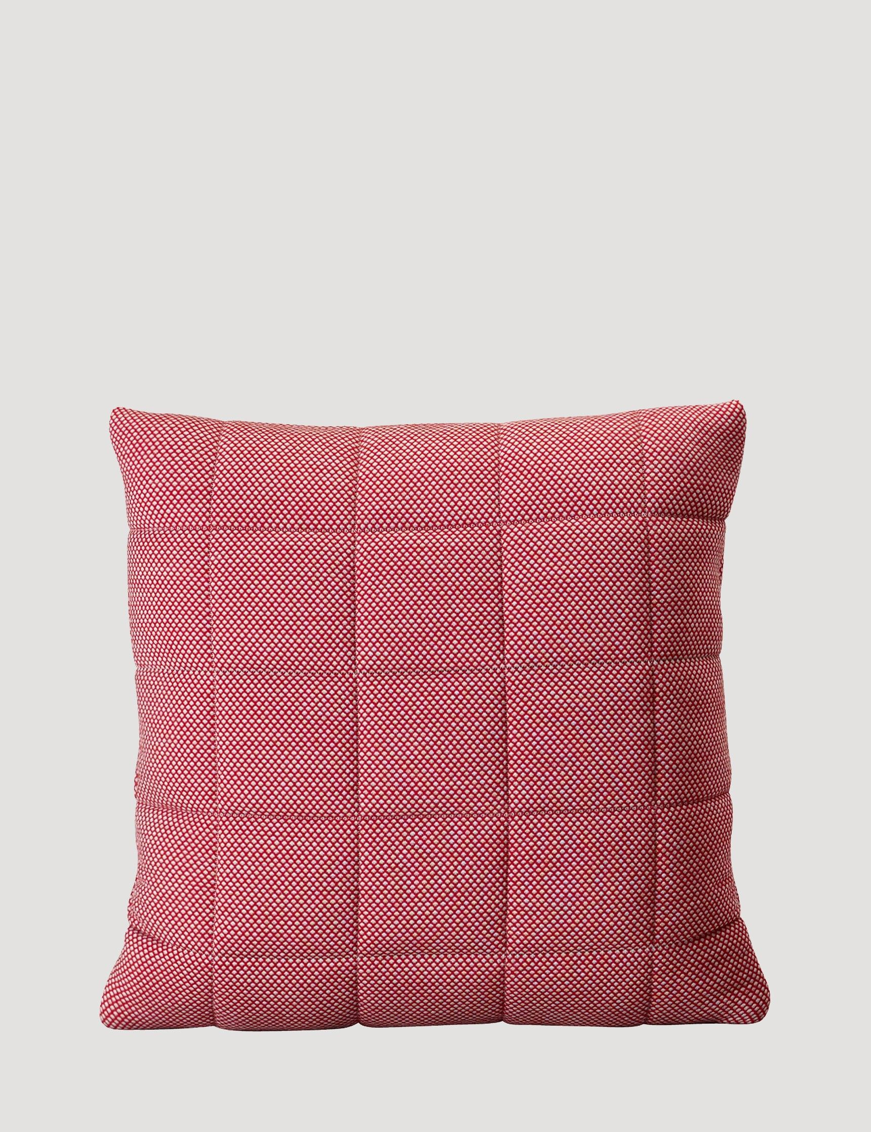 "Light Red Soft Grid 20x20"" or 16x24"" pillow / Muuto"