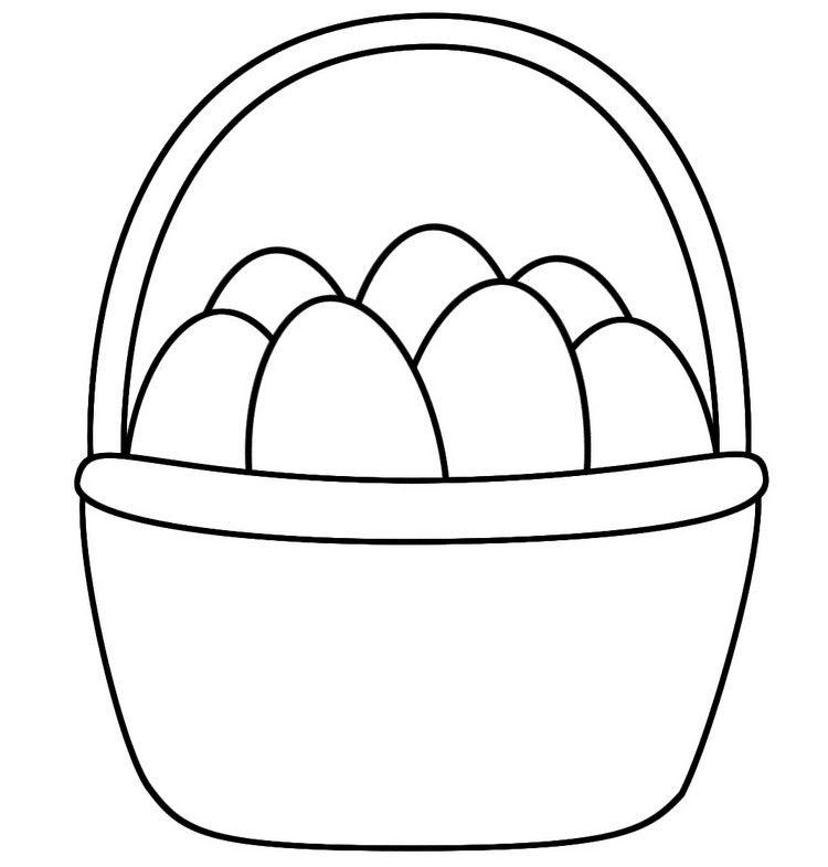 Körb mit Ostereiern Vorlage   Osterbasteln   Pinterest ...