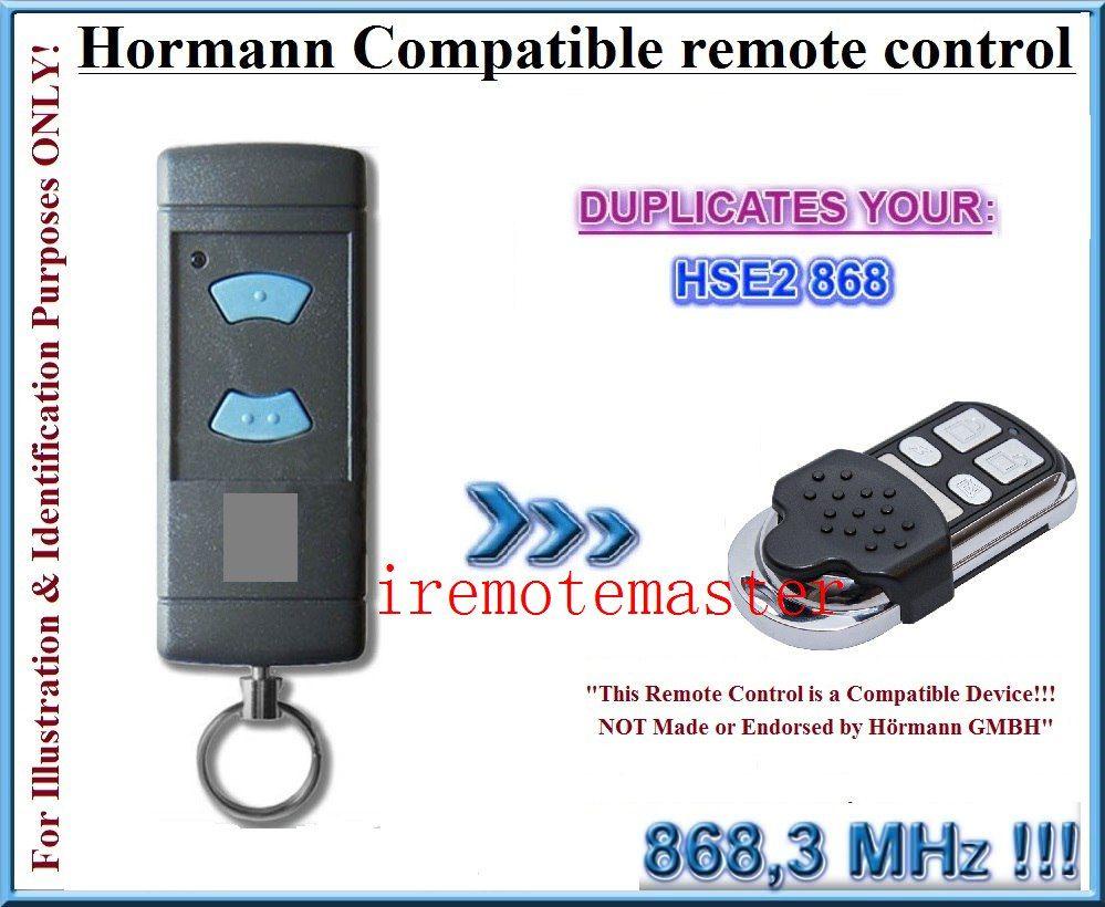 Hormann Blue Buttons Compatible Hse2 868mhz Garage Door Gate Remote Control Replacement Duplicator Gate Remote Garage Doors Remote Control