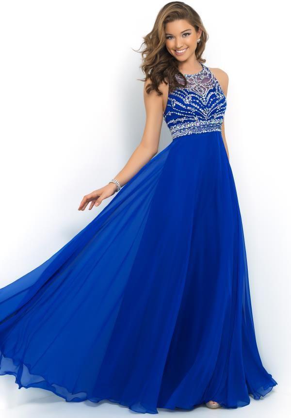 Blue Plus Size Formal Dresses