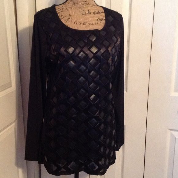 Elegant Black Ashro Top Elegant Black Ashro Top.....missing a couple of the embellished squares.....95% Polyester 5% Spandex....fits like a large Ashro Tops