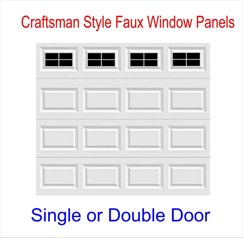 Craftsman Style Faux Garage Door Windows Vinyl Decals No Faux Hardware Included 2020