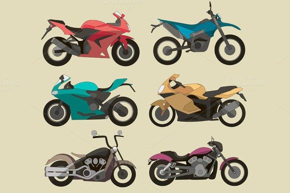 Motorcycle Icons Set Motorcycle Icon Icon Set Set Patterns