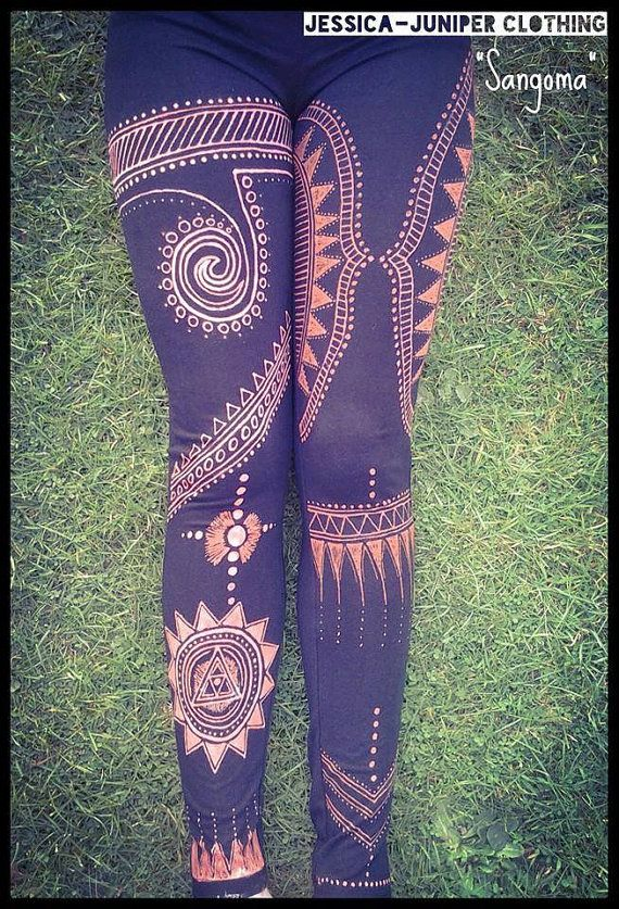 Hey, I found this really awesome Etsy listing at https://www.etsy.com/listing/262791891/sangoma-hand-made-bleach-art-leggings