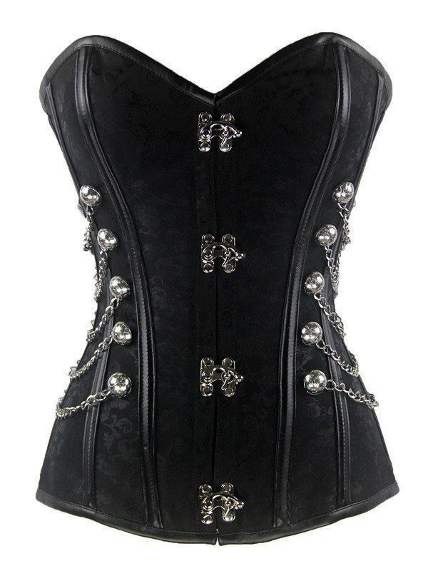 Corset - If Only You Could See Steampunk Chained Corset