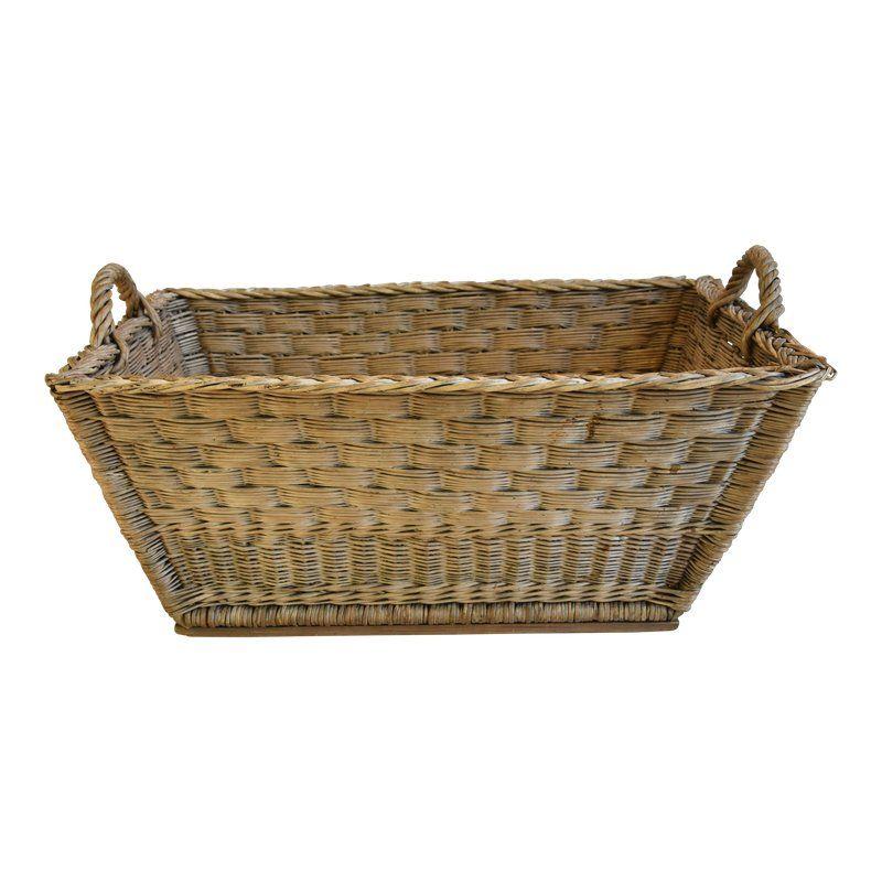 French Woven Wicker Willow Market Basket Basket Market