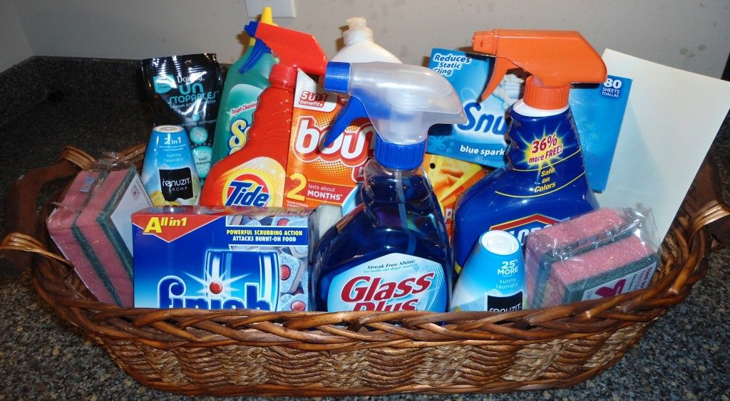 Diy Cleaning Supply Housewarming Gift Basket Laundry Gifts