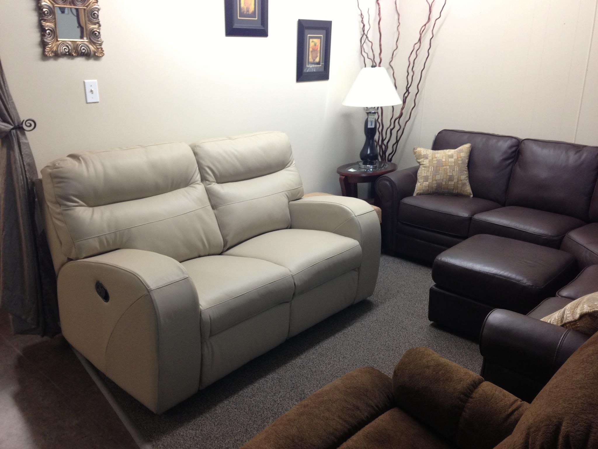 Glenlawn reclining loveseat with butter soft Venice leather