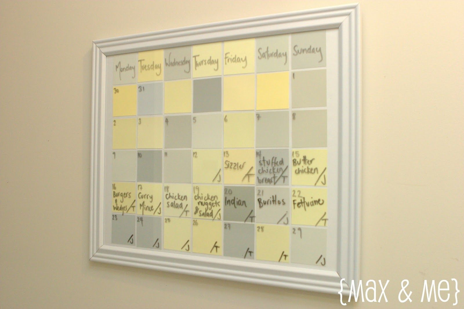 Glass Dry Erase Wall Calendar | Simple, and definitely not fancy ...