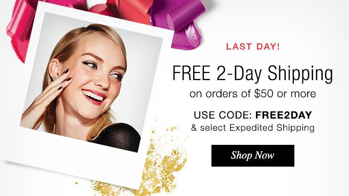 Free 2-Day Shipping on orders of $50