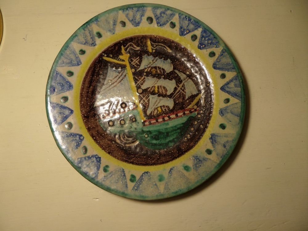 Vecchio piatto ceramica vietri avallone era gambone kowaliska dolker