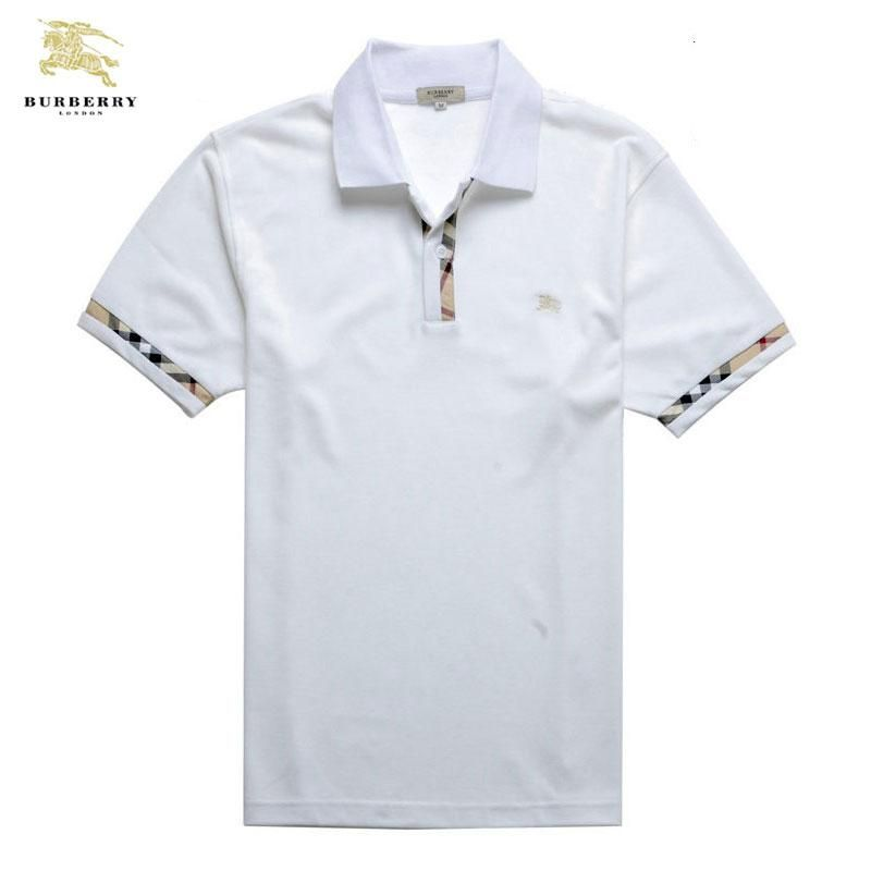 db6fa5bb30 Skjorta Burberry Manniskan AD06 Skjorta Burberry Manniskan Sleeve Skarning  Polo Hals Vit Logo Och Priss Mer. Polo Dos HomensCamisas ...