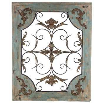 Wood And Iron Wall Decor rustic turquoise wood & metal wall decor | metal walls, wall decor